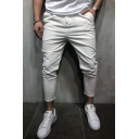 Men's Hot Fashion Simple Solid Color Stretched Slim Fit Casual Pencil Pants
