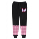 Hot Fashion Spider Net Printed Drawstring Waist Casual Relaxed Jogging Sweatpants
