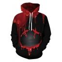 New Fashion Halloween Blood Smile Face Print Black Unisex Hoodie