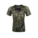 Mens Cool Camo Printed Quick Dry Running Training Slim T-Shirt