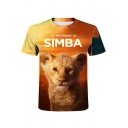 The Lion King Simba 3D Print Round Neck Short Sleeve T-Shirt