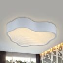 Living Room Cloud Flush Ceiling Light Acrylic Creative Stepless Dimming/Third Gear/Warm/White Ceiling Lamp