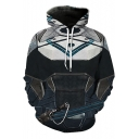 Mens New Stylish Cool Armour 3D Printed Long Sleeve Casual Sport Pullover Hoodie