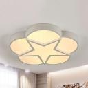 Nordic Blossom Star Flush Mount Light Acrylic Warm/White Lighting Ceiling Lamp for Living Room