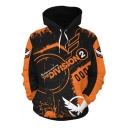Popular Letter The Division Comic Cosplay Costume Long Sleeve Sport Loose Orange Hoodie