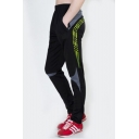 Popular Fashion Colorblocked Stripe Printed Quick Drying Jog Lounge Pants Sweatpants for Men