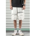 Men's Summer Stylish Personalized Zipped Pocket Design Casual Loose Cargo Shorts