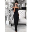 New Stylish Fancy Womens Plain Drawstring Waist Off Shoulder Short Sleeves Casual Jumpsuit