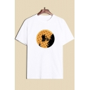 Cool Unique Cookie Figure Print Round Neck Short Sleeve Cotton T-Shirt