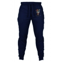 Men's New Fashion Letter JUST DO IT Printed Drawstring Waist Casual Jogging Sweatpants