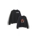 Legion Character Printed Mock Neck Long Sleeve Pullover Sweatshirt