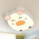 Modern Duck/Elephant/Piggy Flushmount Light Acrylic Third Gear/White Lighting Ceiling Light for Teen