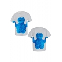 New Trendy 3D Cartoon Character Printed Round Neck Short Sleeve Casual Tee