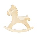 16 Inch Wood Horse Wall Light 2 Lights Lovely LED Wall Lamp in Beige for Child Bedroom
