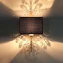 Luxurious Gold Wall Light Twig 1 Light Metal Sconce Light with Crystal Leaf for Living Room