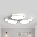 Adult Bedroom Wing Ceiling Mount Light Acrylic Warm/White Lighting Flush Light in White Finish