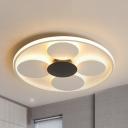 Modern Dot LED Flush Mount Light Acrylic Warm/White Lighting Ceiling Lamp for Living Room
