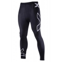 Fashion Letter X Printed Quick Drying Black Skinny Cycling pants