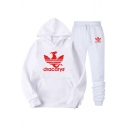 Popular Dracarys Dragon Logo Print Casual Loose Hoodie with Sweatpants Sport Two-Piece Set