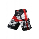 Men's Popular Fashion Skull Printed Professional Boxing Shorts