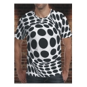 Summer Cool Unique Black and White Soccer Ball 3D Print Short Sleeve Tee