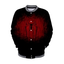 Cool Spider Far From Home 3D Printed Black Long Sleeve Button Baseball Jacket