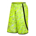 Men's Summer New Stylish Camouflage Printed Elastic Waist Loose Fit Sports Basketball Shorts