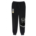 Hot Fashion Letter KING Printed Drawstring Waist Casual Jogging Sweatpants for Guys