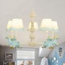 Blue/Pink Horse Chandelier 5/6 Lights Nordic Style Metal Pendant Lamp for Kindergarten Bedroom
