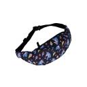 New Trendy Unicorn Printed Black Fanny Pack Fashion Waist Bag 50 CM