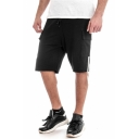 Summer Stylish Striped Side Ribbon Embellishment Flap Pocket Drawstring Waist Men's Casual Sports Sweat Shorts