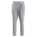 Men's New Stylish Solid Color Pleated Detail Back Zipped Pocket Drawstring Waist Casual Sweatpants
