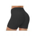 Women's Hot Popular Jacquard Bum Lift Sport Yoga Skinny Fit Stretch Shorts