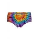 New Trendy Purple Tie Dye Printed Panty Shorts for Women