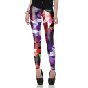 New Stylish Geometric Printed Slim Fit Legging Pants