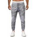 Guys Popular Fashion Camouflage Printed Drawstring Waist Trendy Casual Sports Sweatpants