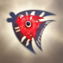 Fish Stair Child Bedroom Wall Sconce Metal Cartoon LED Sconce Light in Black/Red Finish