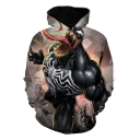 Stylish Cool 3D Printed Basic Long Sleeve Sport Loose Pullover Hoodie