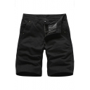 Summer New Stylish Solid Color Cotton Casual Chino Shorts for Men