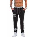 Men's New Fashion Popular Letter Printed Drawstring Waist Casual Sports Joggers Sweatpants