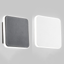 Acrylic Shade Square Wall Sconce Contemporary LED Hallway Wall Lighting in Black/White