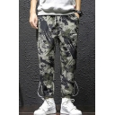 Guys New Fashion Cool Camouflage Printed Drawstring Waist Casual Carrot Pants