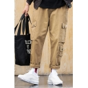 Men's New Fashion Solid Color Multi-pocket Straight Loose Cargo Pants