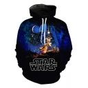 Popular Star Wars Fashion 3D Figure Print Long Sleeve Casual Loose Hoodie