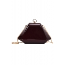 New Fashion Solid Color Personalized Polygon Crossbody Clutch Bag with Chain Strap 25*15*8 CM