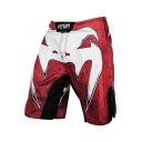 Men's Professional Cool Fashion Venum Printed Red Boxing Shorts