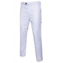 Guys Fashion Simple Plain Straight Tailored Suit Pants Business Dress Pants