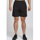 Men's Summer New Fashion Letter Lighting Printed Elastic Waist Casual Sports Sweat Shorts