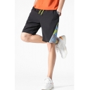 Men's Summer New Stylish Printed Drawstring Waist Casual Loose Sports Sports Shorts