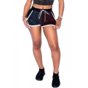 Womens Sexy Glitter Gold Stamping Drawstring Waist Mini Casual Shorts